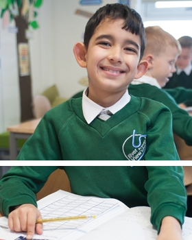A pupil doing work in a lesson at River View Primary School