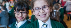 Two pupils at River View Primary School