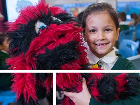 A pupil at River View Primary School