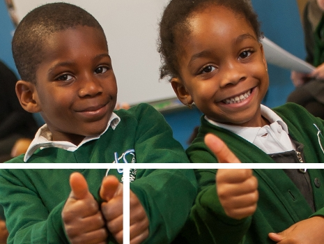 Pupils at River View Primary School