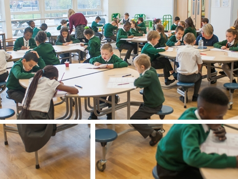 Pupils studying at River View Primary School