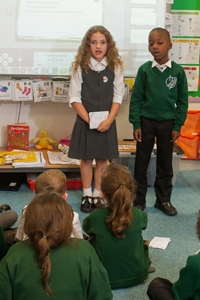 Pupils in a classroom at River View Primary School