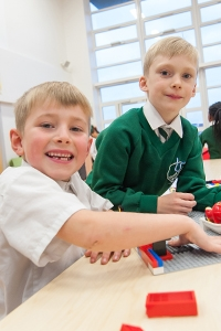 Children playing at River View Primary School